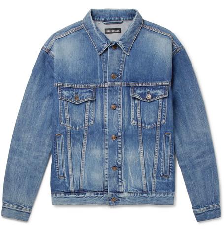 Balenciaga - Logo-Embroidered Denim Jacket - Men - Indigo