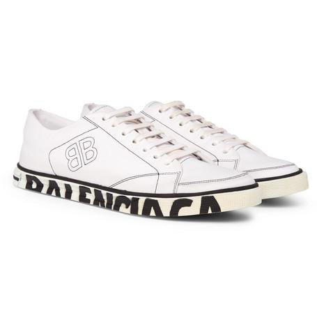 967e9a75c0b Balenciaga – Match Logo-Print Canvas Sneakers – Men – White