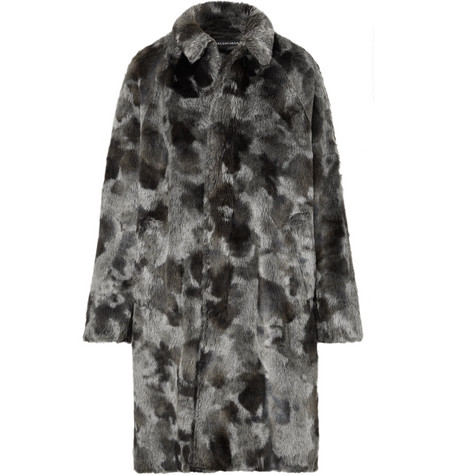 Balenciaga - Oversized Faux Fur Coat - Men - Gray