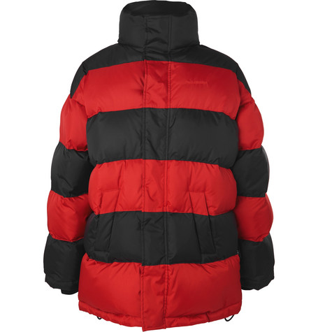 Balenciaga - Oversized Striped Quilted Shell Down Jacket - Men - Red