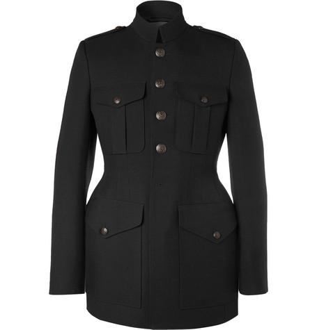 Balenciaga - Slim-Fit Virgin Wool-Twill Coat - Men - Black