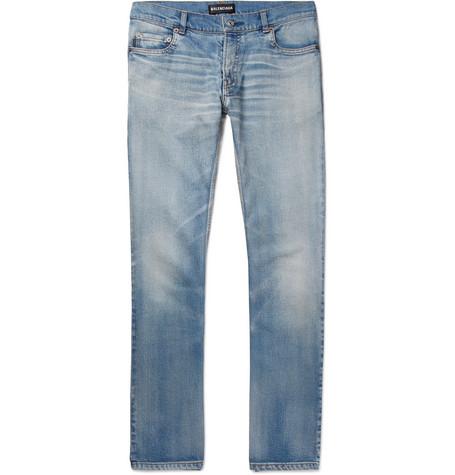 Balenciaga - Stretch-Denim Jeans - Men - Light blue
