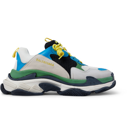 Balenciaga - Triple S Mesh, Leather and Suede Sneakers - Men - Multi