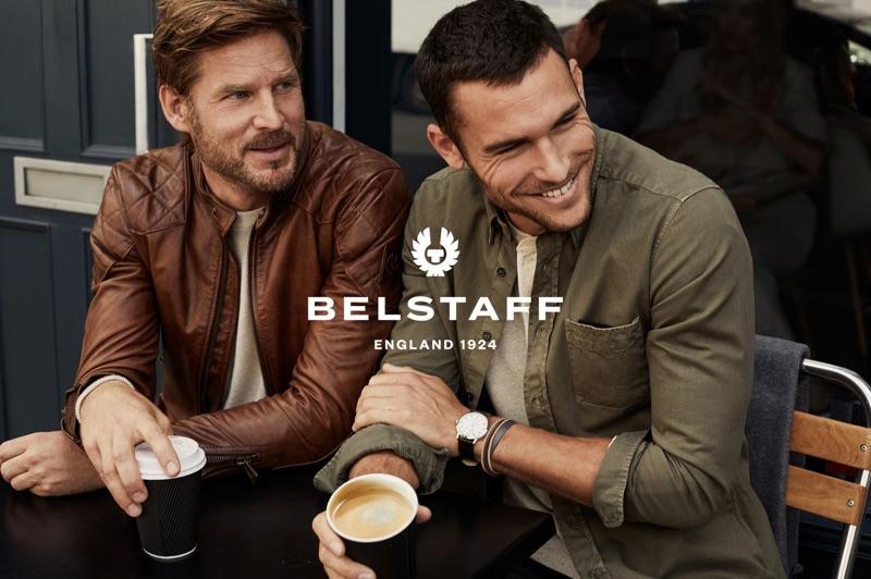 Noah Huntley and Corey Saucier star in Belstaff's spring-summer 2019 campaign.