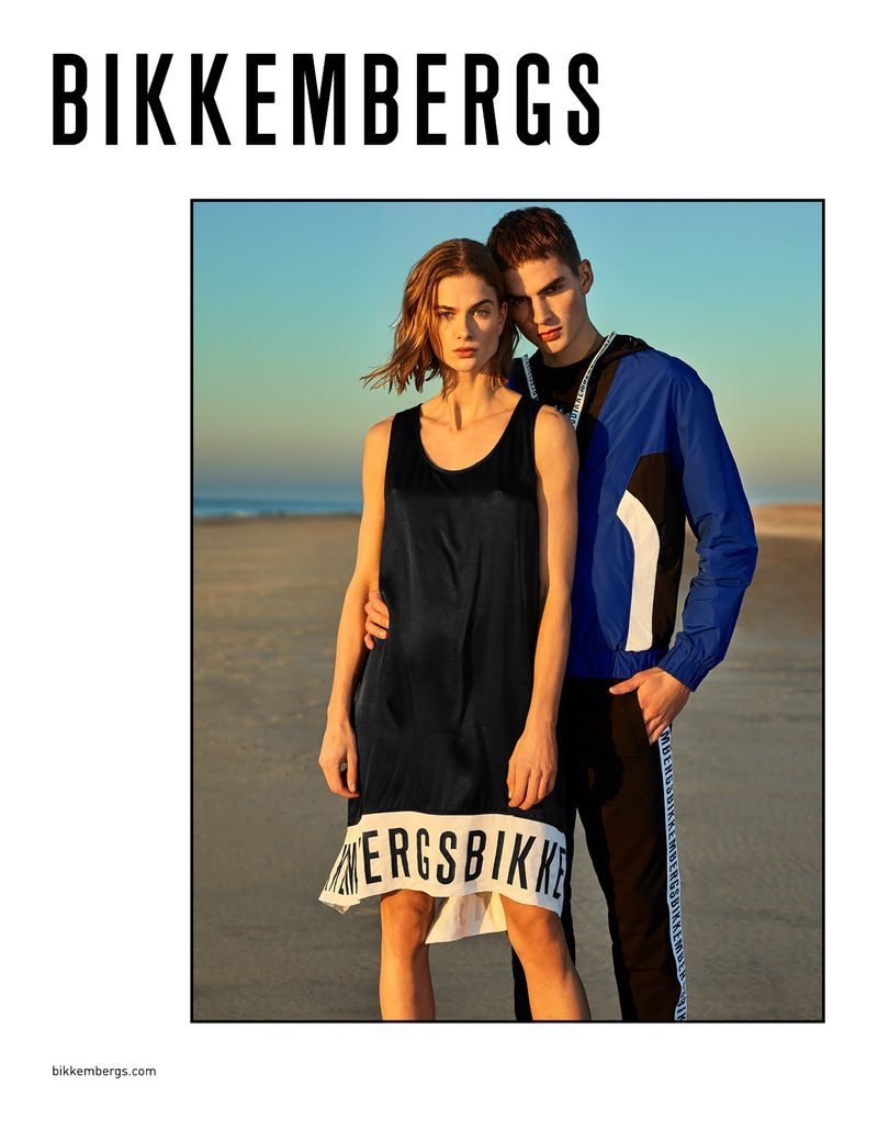 Models Bo Don and Jurriaan Seppenwoolde front Bikkembergs' spring-summer 2019 campaign.