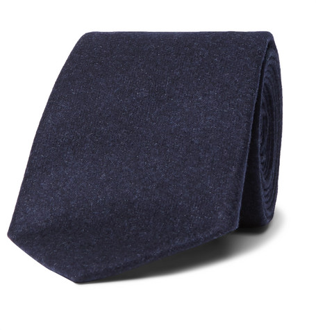 Brunello Cucinelli - 6.5cm Wool, Silk and Cashmere-Blend Tie - Men - Navy
