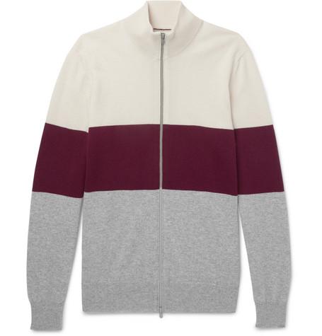 Brunello Cucinelli - Colour-Block Cashmere Zip-Up Cardigan - Men - Multi