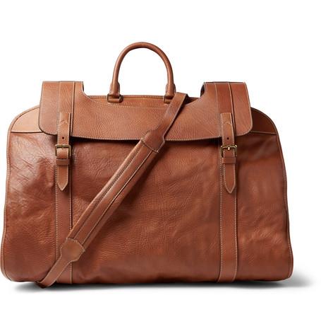 8cc593147a31 Brunello Cucinelli - Full-Grain Leather Garment Bag - Men - Tan