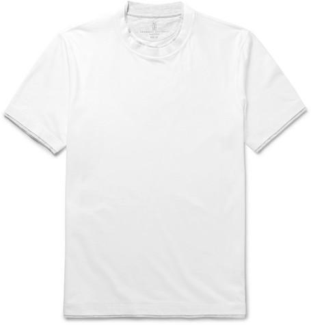 Brunello Cucinelli - Layered Cotton-Jersey T-Shirt - Men - White