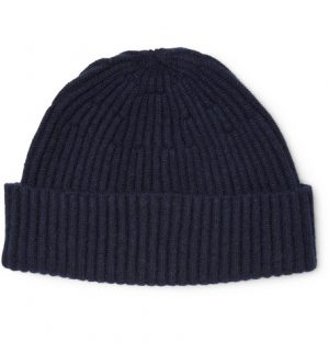 Brunello Cucinelli - Ribbed Cashmere Beanie - Men - Navy