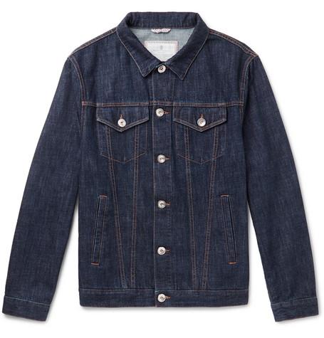 Brunello Cucinelli - Slim-Fit Denim Jacket - Men - Blue