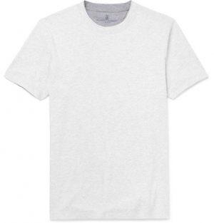Brunello Cucinelli - Slim-Fit Layered Cotton-Jersey T-Shirt - Men - White
