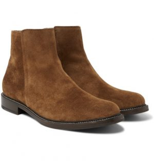 Brunello Cucinelli - Suede Chelsea Boots - Men - Light brown