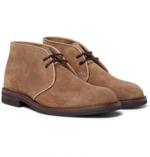 Brunello Cucinelli - Suede Desert Boots - Men - Light brown