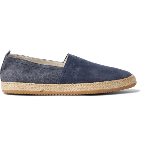 c395b36d2 Brunello Cucinelli – Suede and Canvas Espadrilles – Men – Navy | The ...