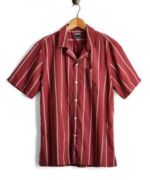 Burgundy Camp Collar Lightweight Shirt