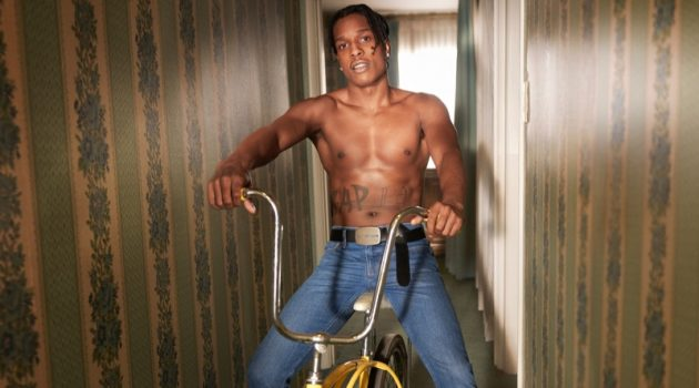 A$AP Rocky fronts Calvin Klein Jeans' spring-summer 2019 campaign.