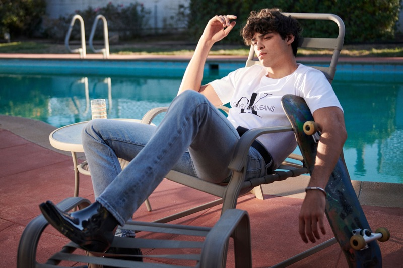 Noah Centineo stars in the spring-summer 2019 campaign of Calvin Klein Jeans.