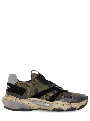 Camouflage Bounce Leather Sneakers