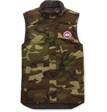 Canada Goose - Garson Slim-Fit Camouflage-Print Quilted Shell Down Gilet - Men - Green
