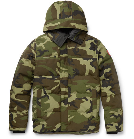 Canada Goose - MacMillan Slim-Fit Camouflage-Print Quilted Shell Hooded Down Parka - Men - Green