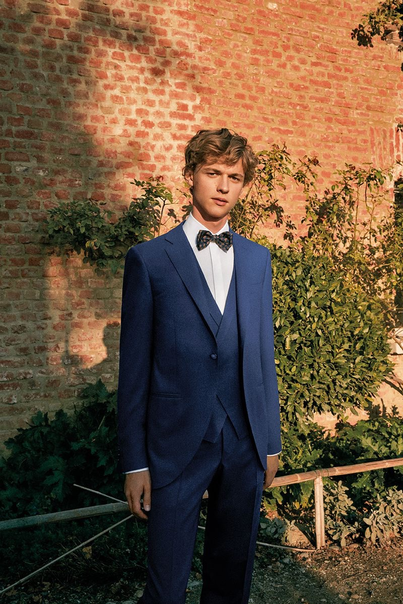 Canali enlists model Max Barczak to don a sharp suit from its spring-summer 2019 wedding collection.