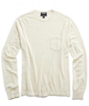 Cashmere T-Shirt Sweater in Beige