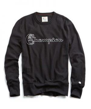 Champion Script Sweatshirt in Black