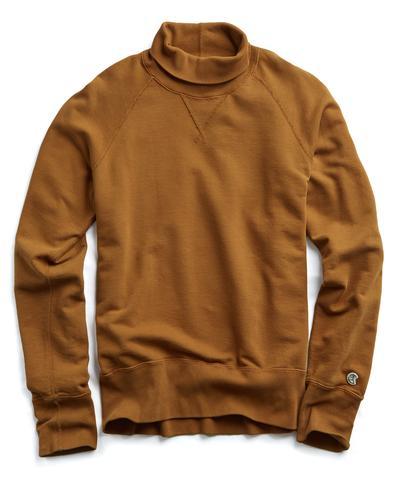 Champion Turtleneck Sweatshirt in Chestnut