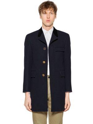 Chesterfield Melton Wool Coat