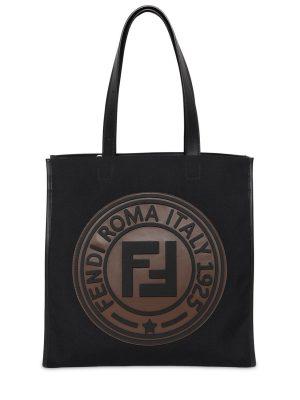 Circle Logo Canvas Tote Bag