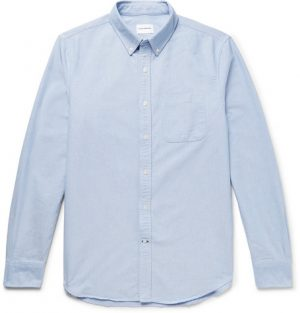 Club Monaco - Button-Down Collar Cotton Oxford Shirt - Men - Light blue