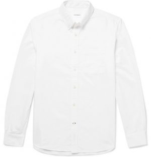 Club Monaco - Button-Down Collar Cotton Oxford Shirt - Men - White