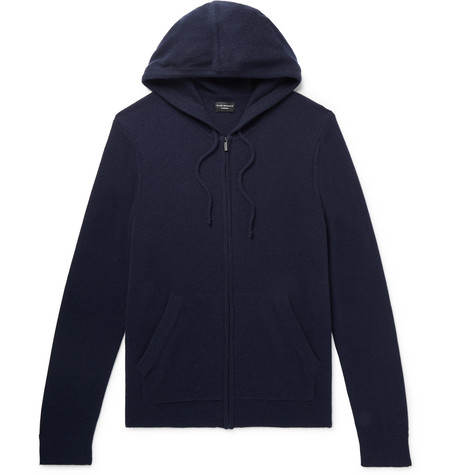 Club Monaco - Cashmere Zip-Up Hoodie - Men - Midnight blue
