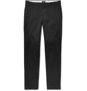 Club Monaco - Connor Slim-Fit Cotton-Twill Chinos - Men - Black