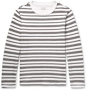 Club Monaco - Double-Faced Striped Cotton-Jersey T-Shirt - Men - White