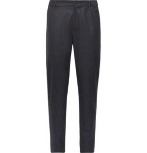 Club Monaco - Lex Tapered Puppytooth Woven Trousers - Men - Navy