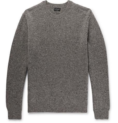 Club Monaco - Mélange Merino Wool Sweater - Men - Brown