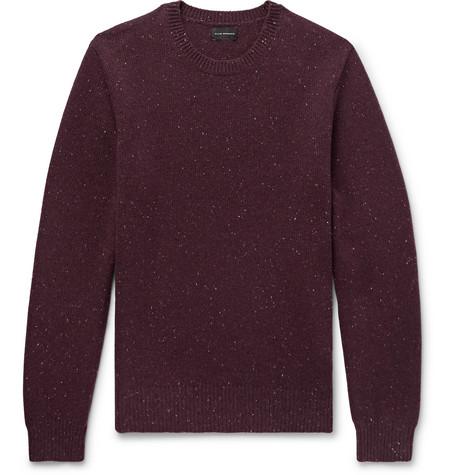 Club Monaco - Mélange Merino Wool Sweater - Men - Merlot