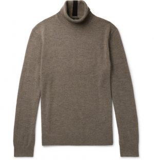 Club Monaco - Merino Wool Rollneck Sweater - Men - Brown