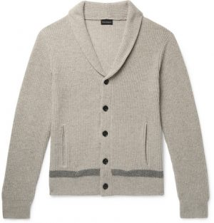 Club Monaco - Slim-Fit Shawl-Collar Merino Wool Cardigan - Men - Gray