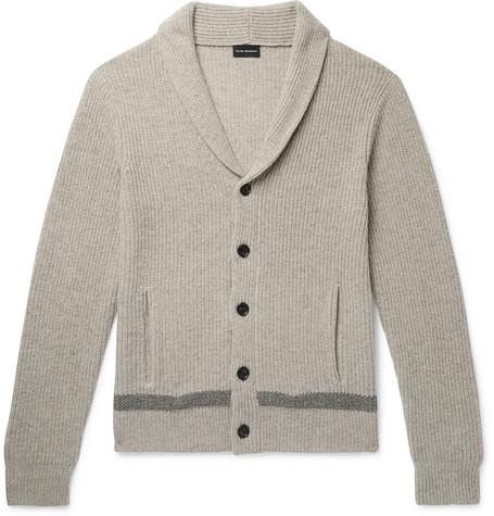 Club Monaco - Slim-Fit Shawl-Collar Merino Wool Cardigan - Men - Gray