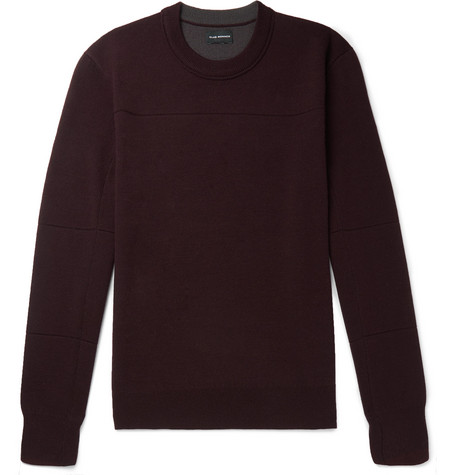 Club Monaco - Stretch Merino Wool-Blend Sweater - Men - Burgundy