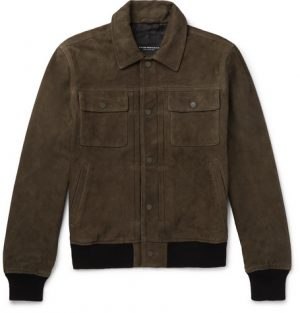 Club Monaco - Suede Trucker Jacket - Men - Green