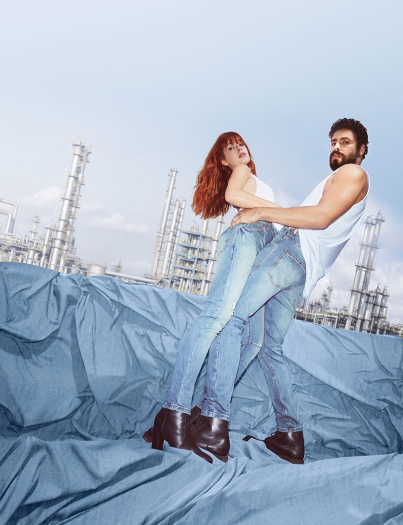 Marina Ruy Barbosa and Cauã Reymond come together for Colcci's fall-winter 2019 denim campaign.