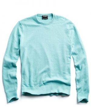 Cotton Crew Neck in Teal