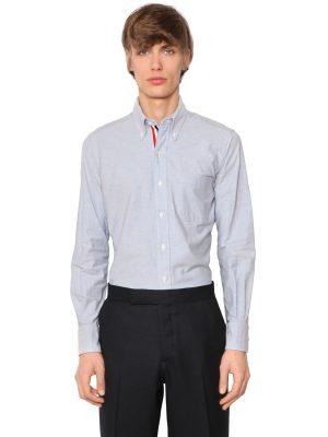 Cotton Oxford Shirt W/ Grosgrain Detail