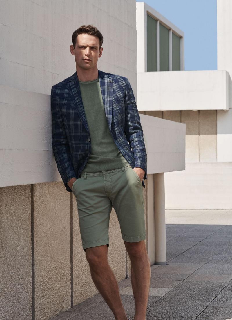 British model Guy Robinson reunites with Digel for spring-summer 2019.