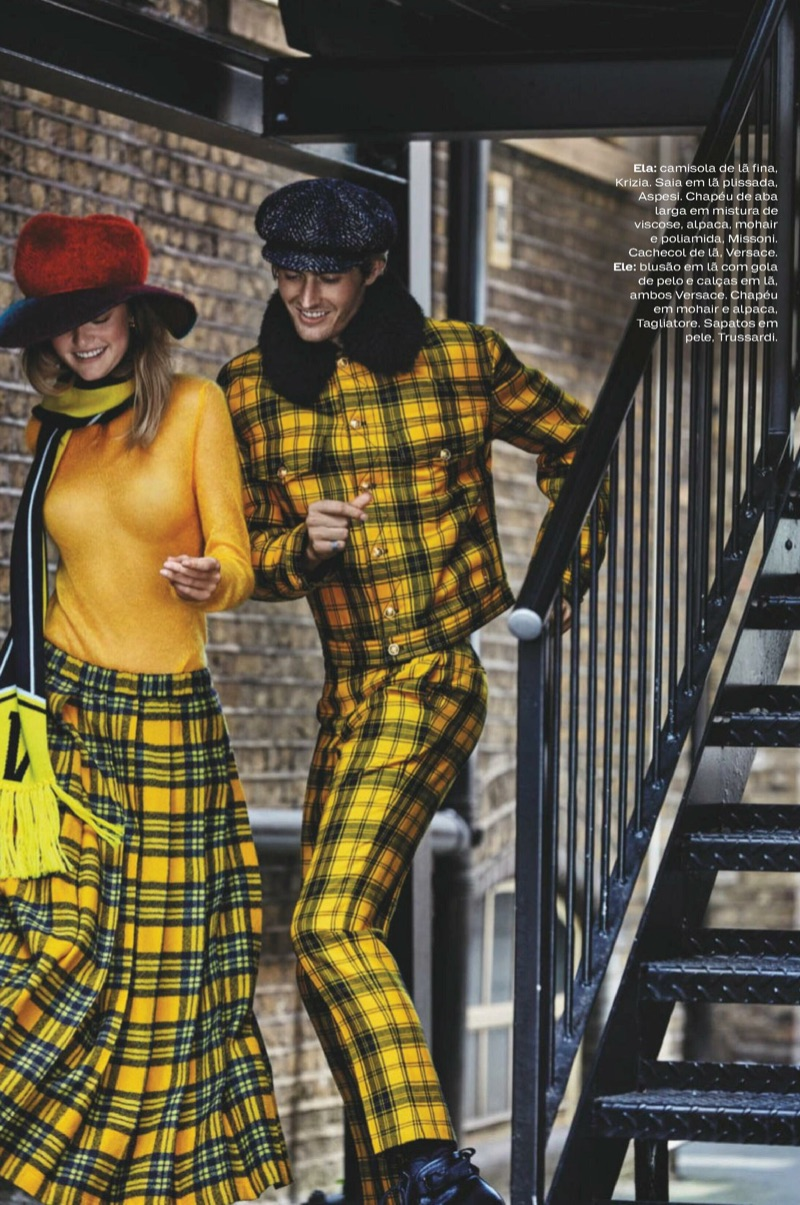 Josh Knight & Willow Hand Don His 'n' Her Looks for Elle Portugal