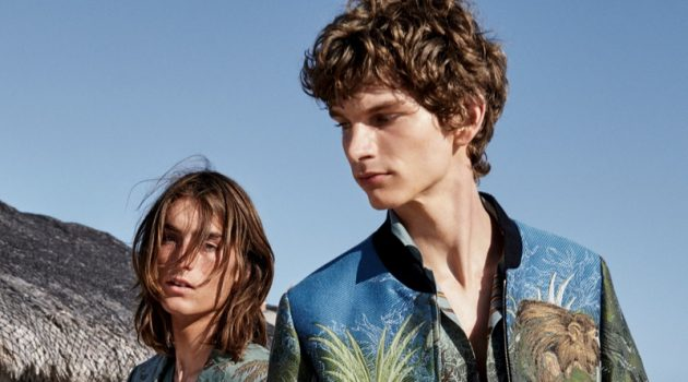 Models Niko Traubman and Erik Van Gils front Etro's spring-summer 2019 campaign.
